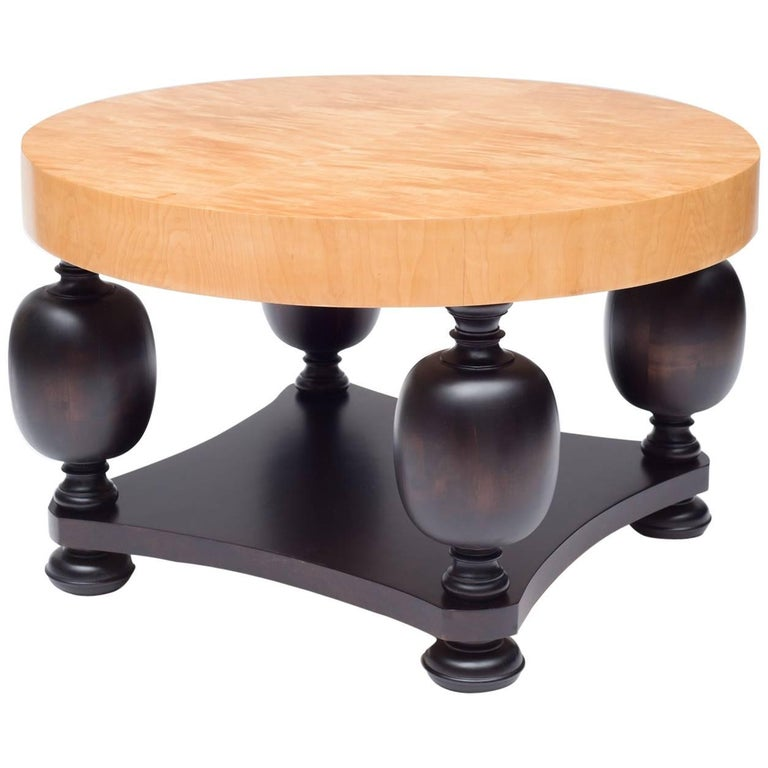 Round Birch Root And Beechwood Coffee Table Sweden 1940s For Sale At 1stdibs