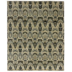New Modern Transitional Ikat Style Area Rug