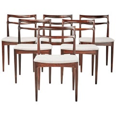 H.W. Klein, Set of Six Rosewood Dining Chairs