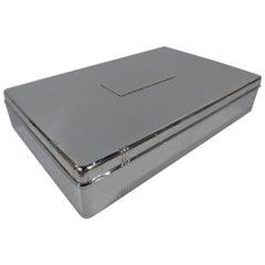 Tiffany Art Deco Sterling Silver Desk Box
