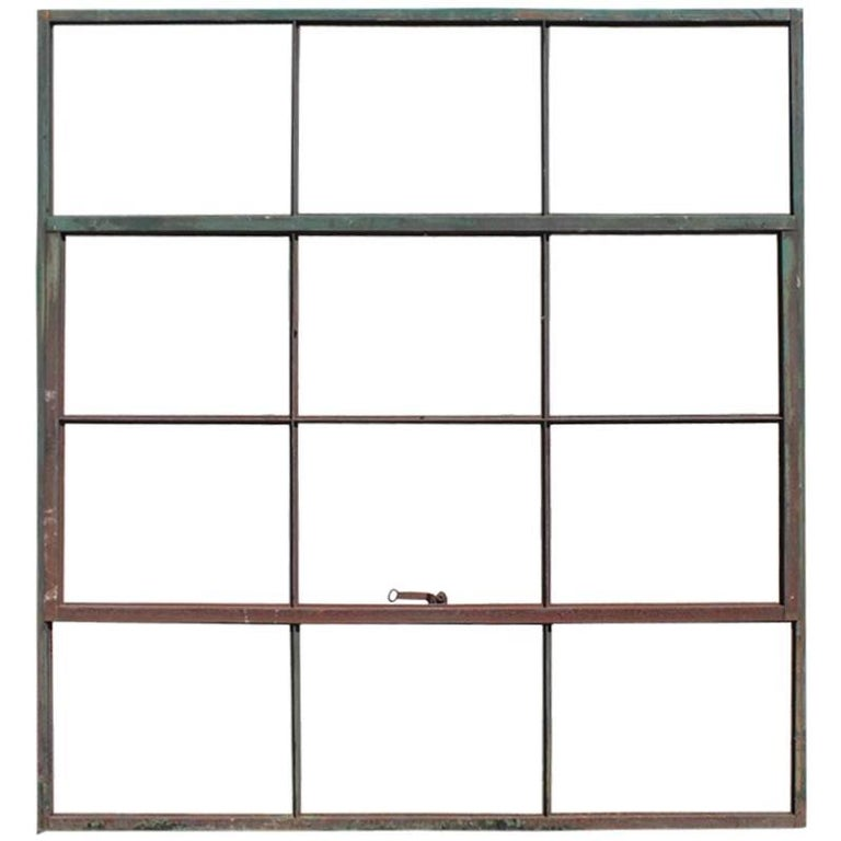 Antique Factory Casement Metal Window 1