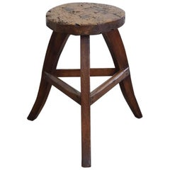 German Low Stool or Table in Pinewood, Early 19th Century