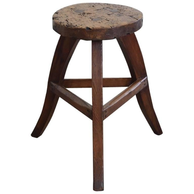 German Low Stool Or Table In Pinewood Early 19th Century