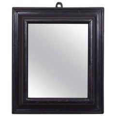 Small Dutch Ebonized Wall Mirror, Early 18th Century
