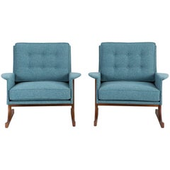 Set of Mid-Century Modern Reupholstered Kofod-Larsen Lounge Chairs for Selig