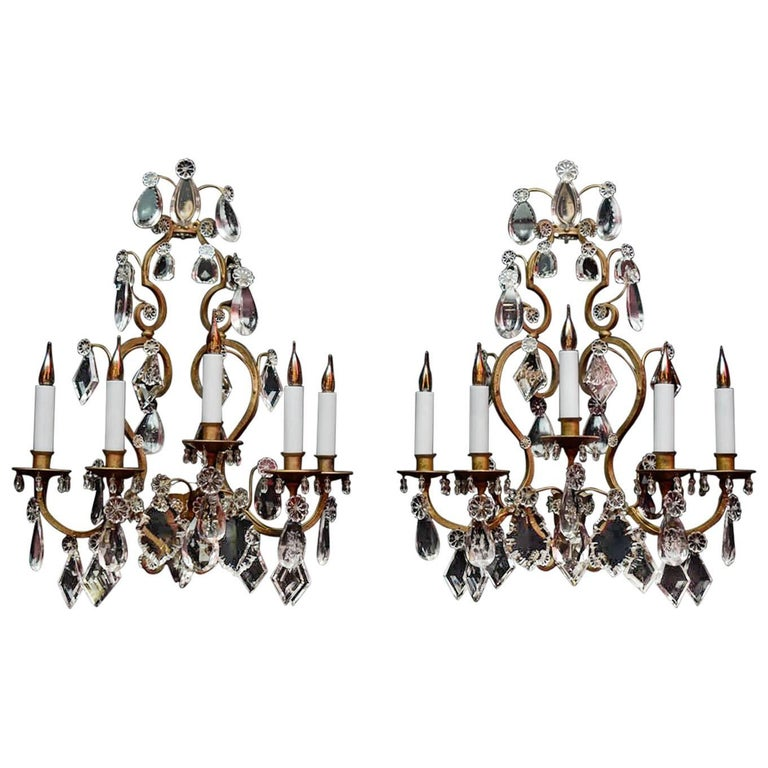 Pair of Wall Sconces, 19th Century in the Style of Louis XV