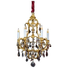 Birdcage Chandelier in Gold Gilt Bronze
