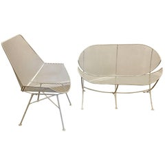 Petite Sofa and Lounge Patio Chair Designed by Maurizio Tempestini for Salterini