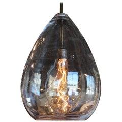 Italian Craft Crystal Tear Drop Light
