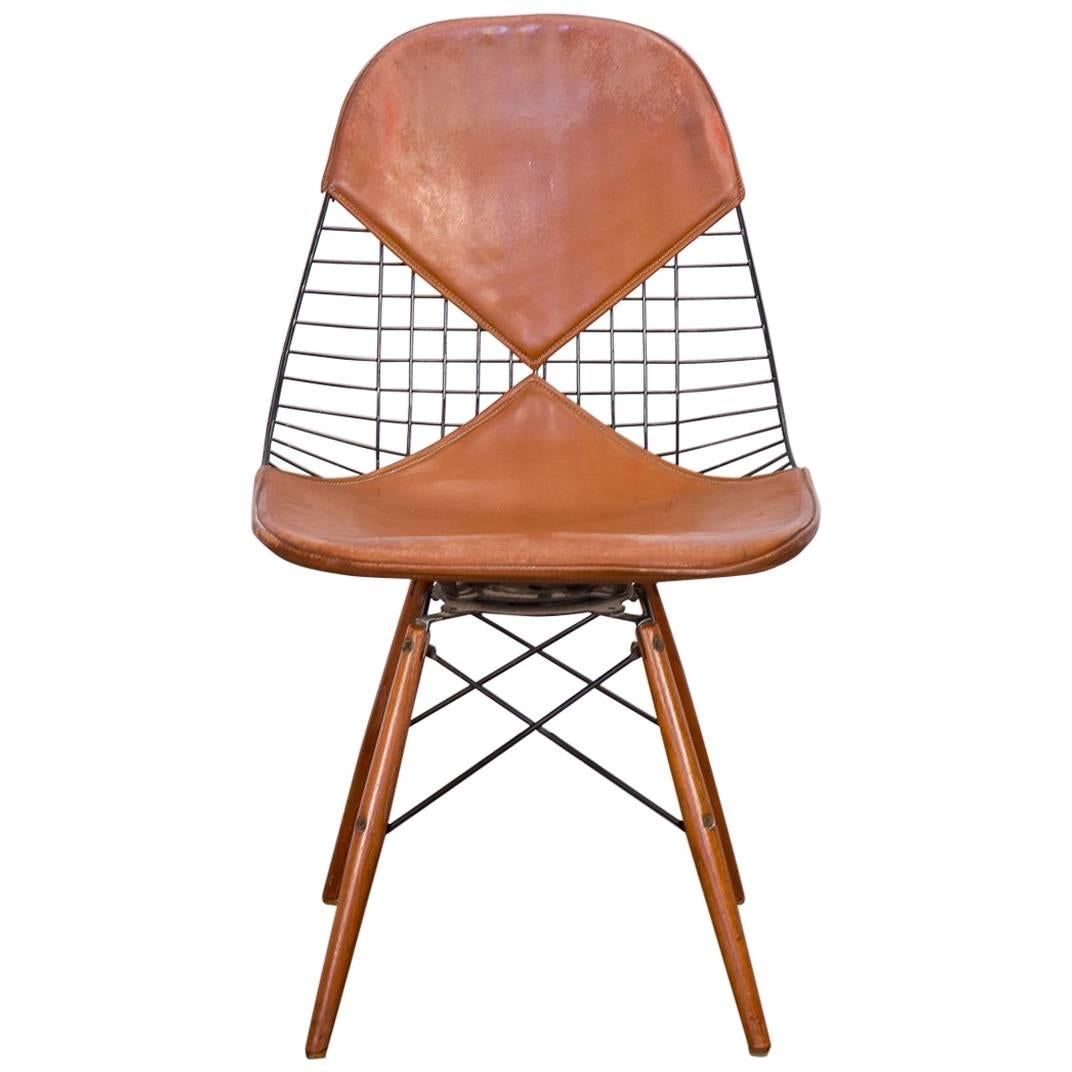 Early And Original Charles And Ray Eames LKR Chair On Zinc Cats Cradle Base  For Sale At 1stdibs