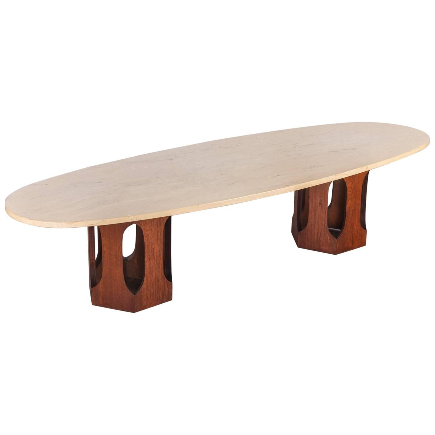 Harvey Probber Travertine Coffee Table For Sale at 1stdibs