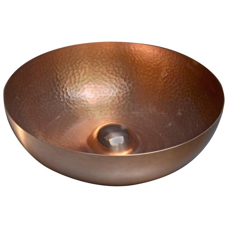 Tapio Wirkkala Hand-Worked Copper Fruit Bowl for Kultakeskus, Finland