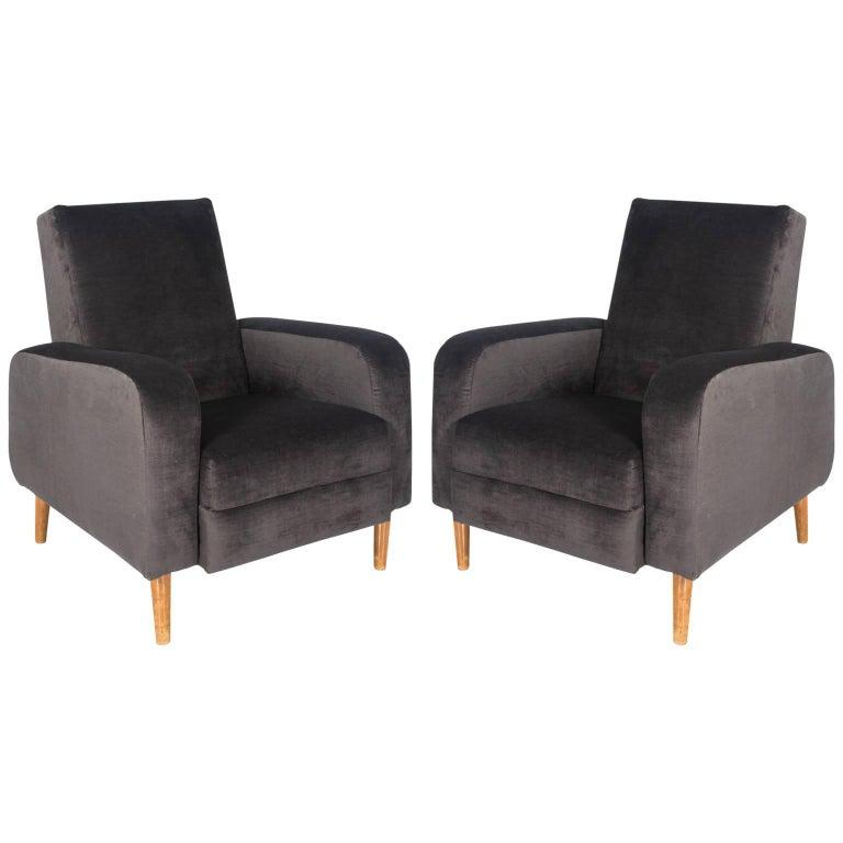 French Modern Club Chairs