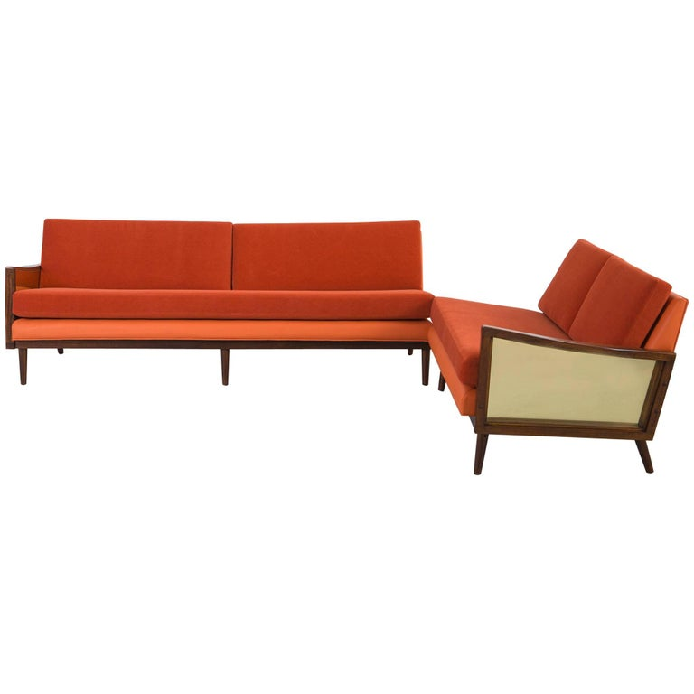 Mid century modern lawrence peabody sectional sofa for for Mid century modern sofa for sale