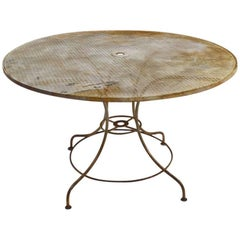 Round Garden Patio Table by Woodard