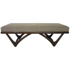 Adrian Pearsall Styled Sculptural Upholstered Bench