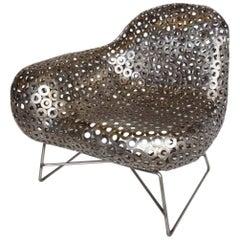 Free-Form Metal Lounge Modern Lounge Chair