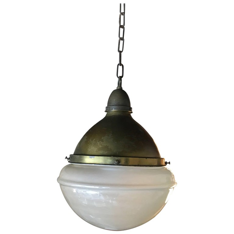 Impressive Industrial Acid Washed Glass Library Pharmacy Pendant Light