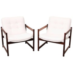 Artifort Lounge Chairs with Wood Frames