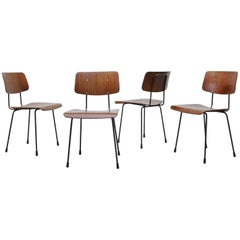 """Set of Four Gispen """"Model 1262"""" Chairs by A.R. Cordemeyer"""
