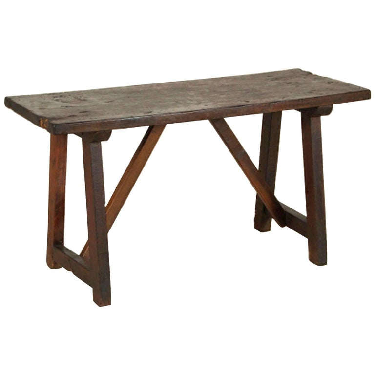 18th Century Tuscan Trestle Bench Table