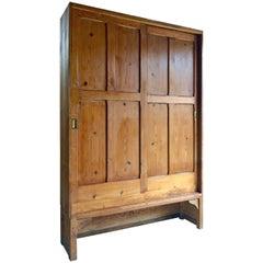 Vintage Cupboard Pantry Houseepers Cabinet Pine Two-Door Midcentury