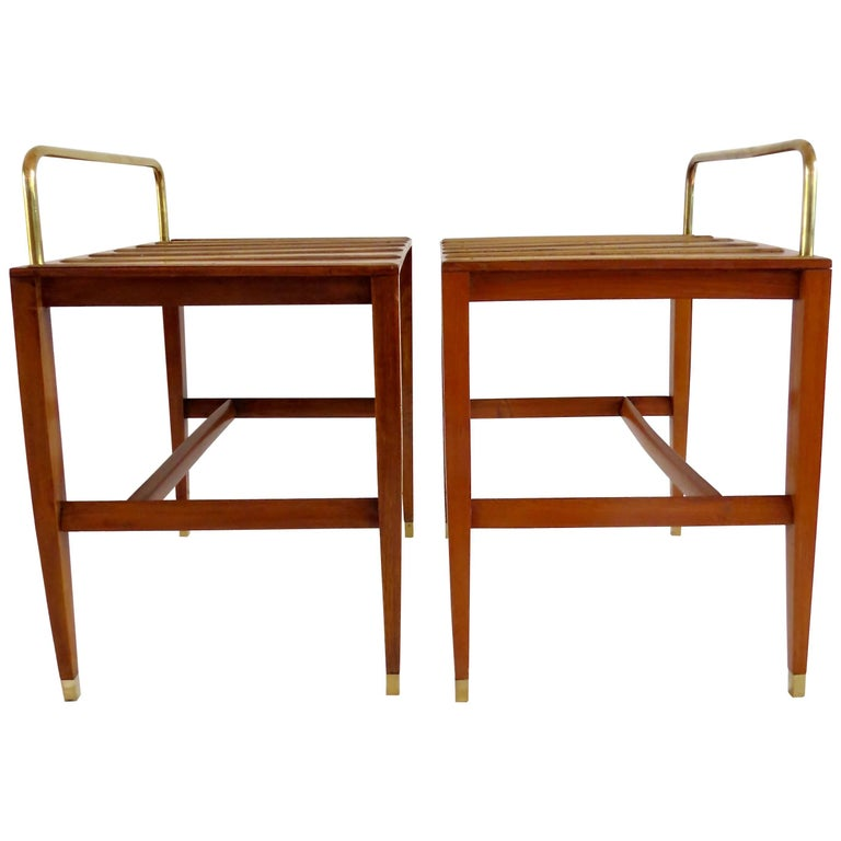Pair of Gio Ponti Side Tables from Hotel Royal, Naples, 1955