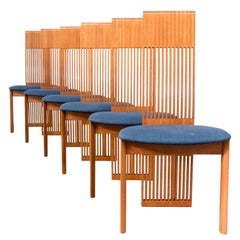 1980s, Set of Six Dining Chairs for Pietro Costantini