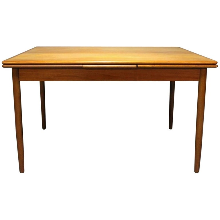 Dining Table in Teak with Extension, Danish Design, 1960s