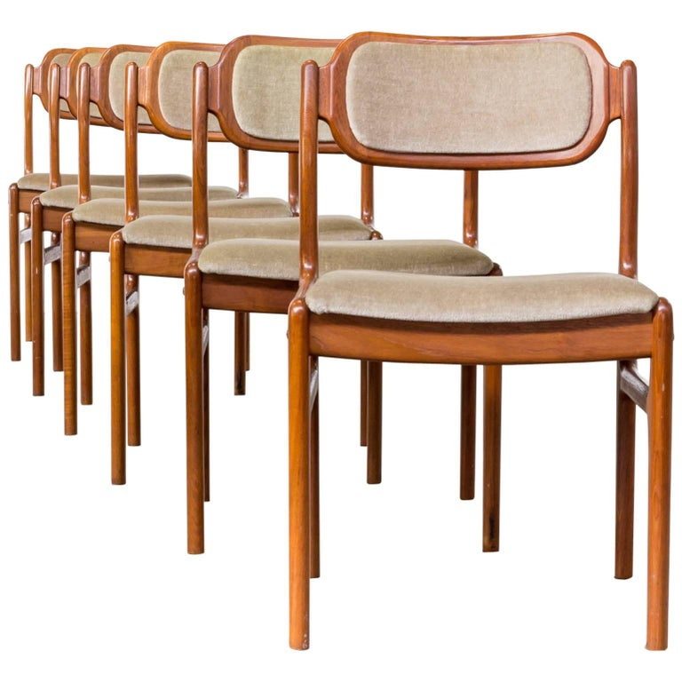 1960s Johannes Andersen Dining Chairs for Uldum Møbelfabrik Set of Six