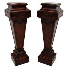 Antique Mahogany Columns – Pedestals