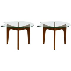 Unusual Pair of Pearsall End Tables