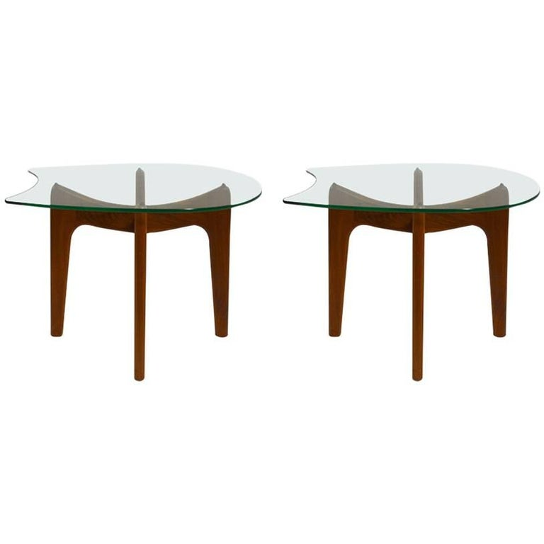 Unusual pair of pearsall end tables for sale at 1stdibs for Unusual tables for sale