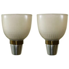 Pair of Vintage Silver Wall Sconces by Ignazio Gardella