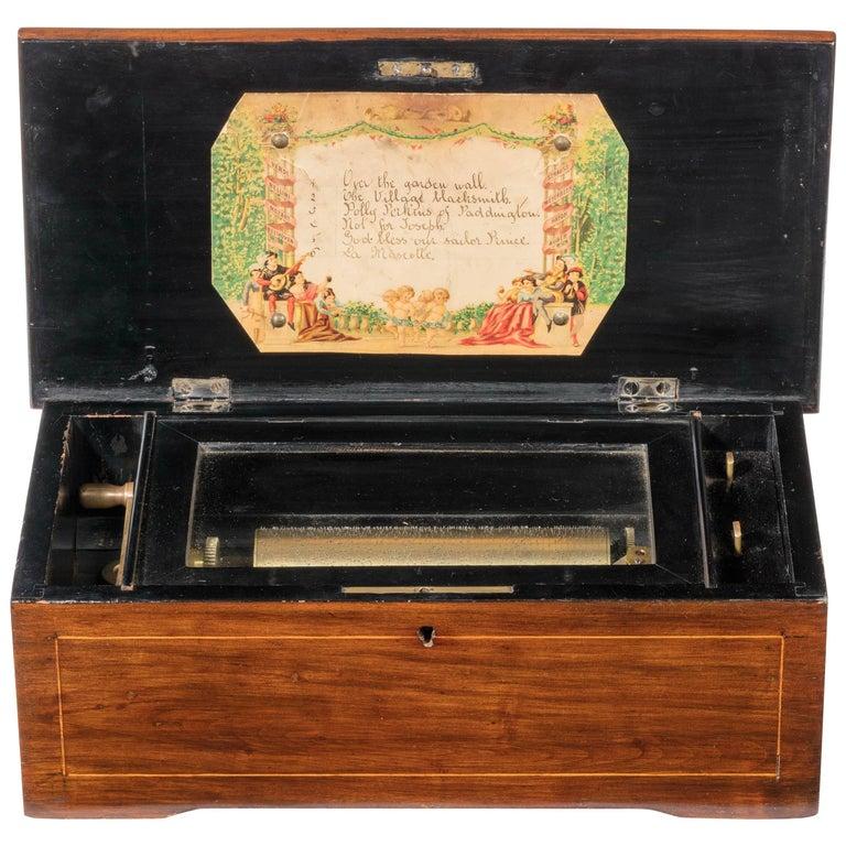 Late 19th Century Mahogany Musical Box