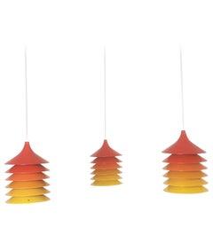 "Set of Three IKEA ""Duett"" Hanging Lights by Bent Gantzel-Boysen, 1970s, Sweden"