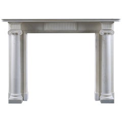 Antique Regency Period Column Fireplace Mantel