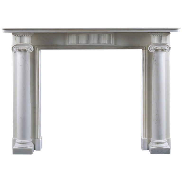 Antique Regency Period Column Fireplace Mantel For Sale