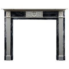 Antique Georgian Fireplace Mantle in Bardiglio and Statuary Marble