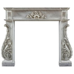 Antique Irish Fireplace Mantel, circa 1750