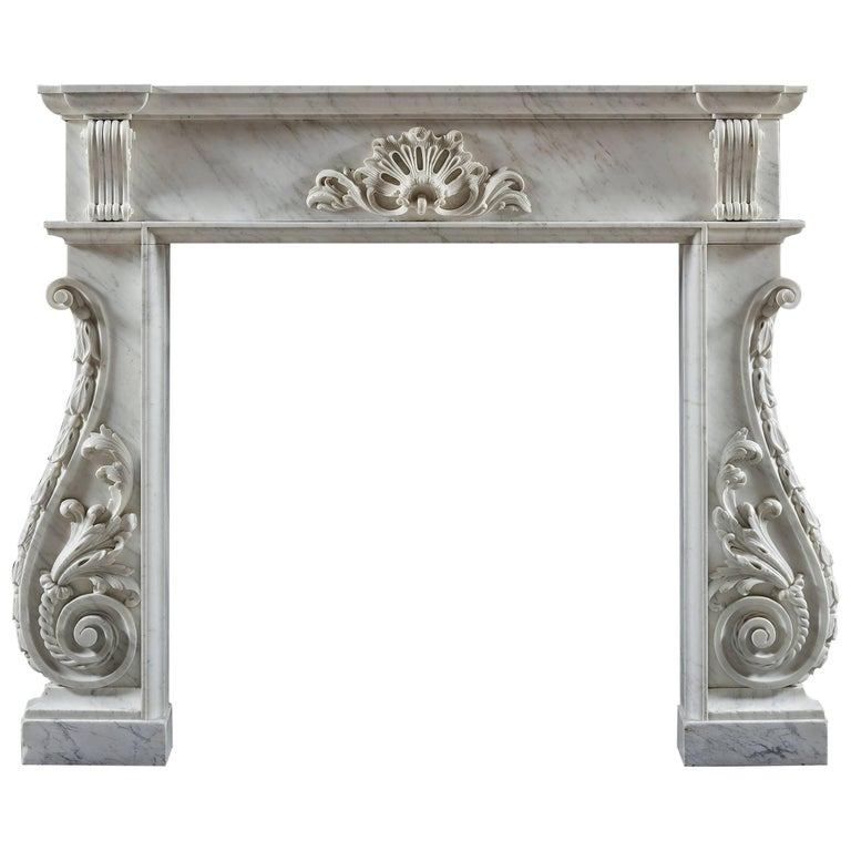 Antique Irish Fireplace Mantel, circa 1750 For Sale