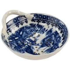 Mid-18th Century Worcester Tea Strainer