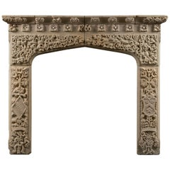 Antique George III Stone Fireplace Mantle