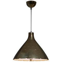 Paavo Tynell Brass Pendant Model K2-46, Idman, Finland, 1950s