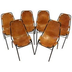 Set of Six Original Les Arcs Chairs, France, 1960s