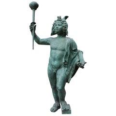 19th Century, Italian Bronze Sculpture of Hermes
