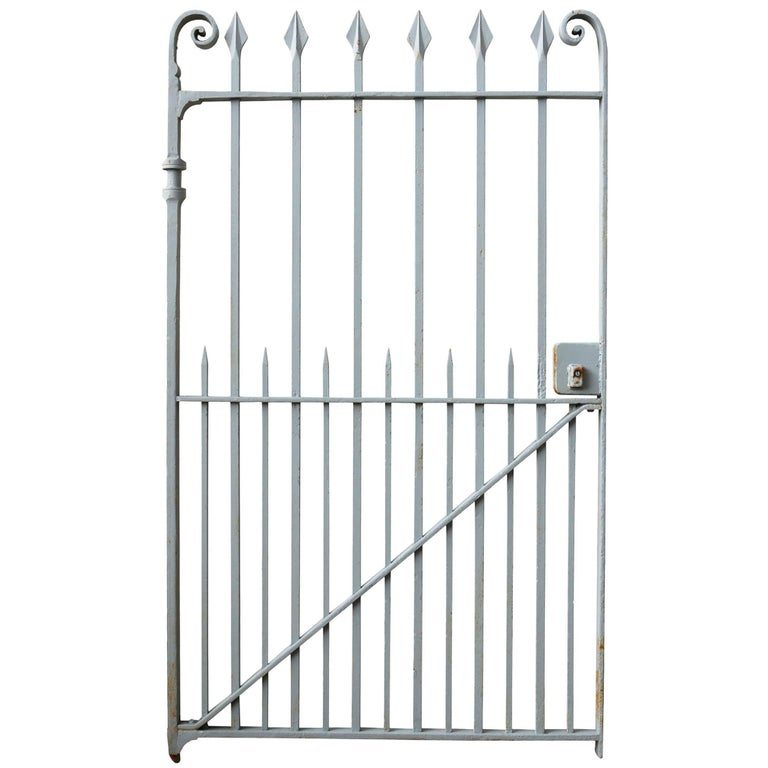Late 19th Century Wrought Iron Pedestrian Gate For Sale