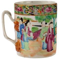 Mid-19th Century Cantonese Famille Verte Porcelain Tanker
