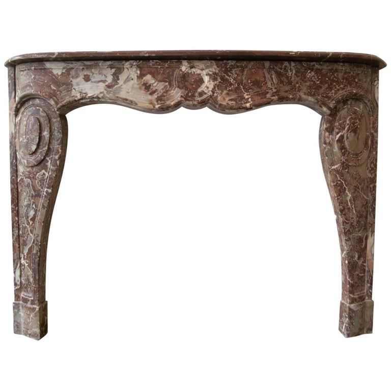 18th Century Louis XV Style Marble Fireplace Mantel For Sale