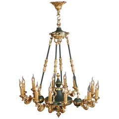 20th Century Classicist Empire Swan Ceiling Light